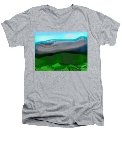 The Hilltop View Men's V-Neck T-Shirt