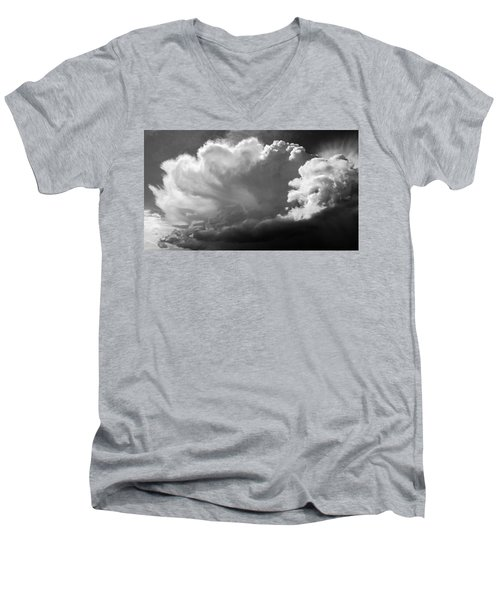 Men's V-Neck T-Shirt featuring the photograph The Cloud Gatherer by John Bartosik