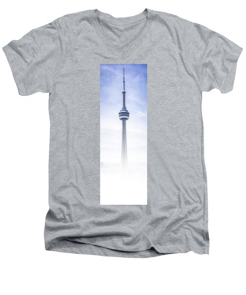 Men's V-Neck T-Shirt featuring the photograph The Cn Tower by Anthony Rego