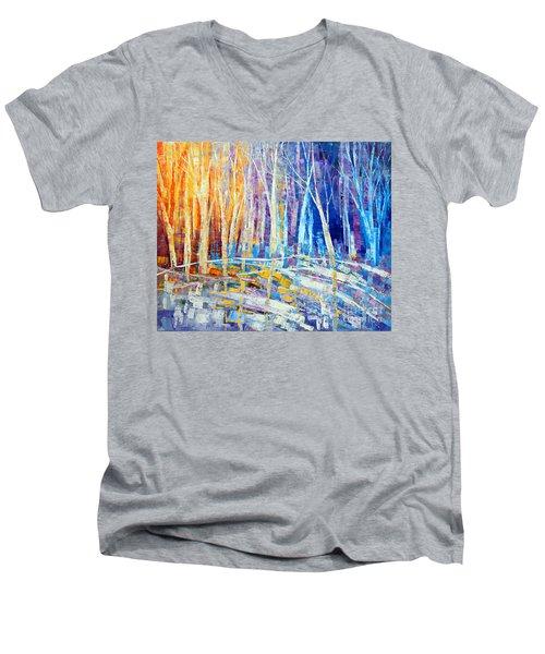 The Color Of Snow Men's V-Neck T-Shirt by Tatiana Iliina