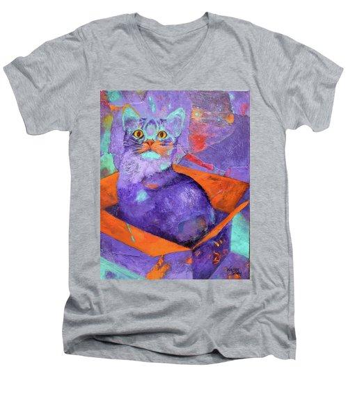 The Color Purrrple Men's V-Neck T-Shirt