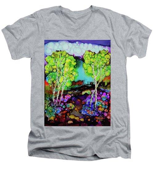 The Colors Of Colorado Men's V-Neck T-Shirt