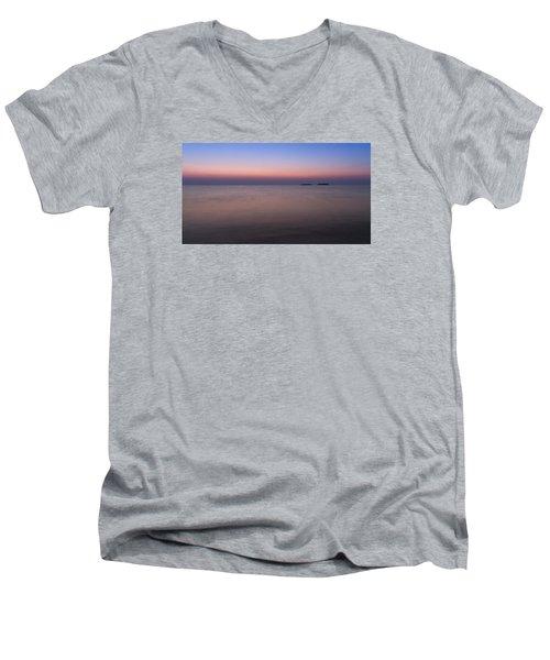Dawn At The Mediterranean Sea Men's V-Neck T-Shirt