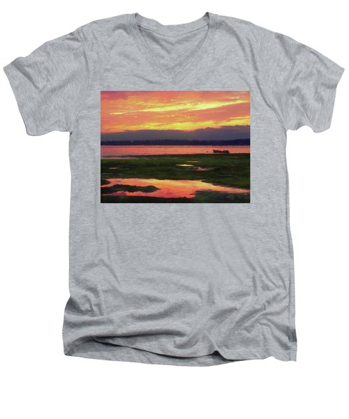 The Colors Of Ship Creek Men's V-Neck T-Shirt