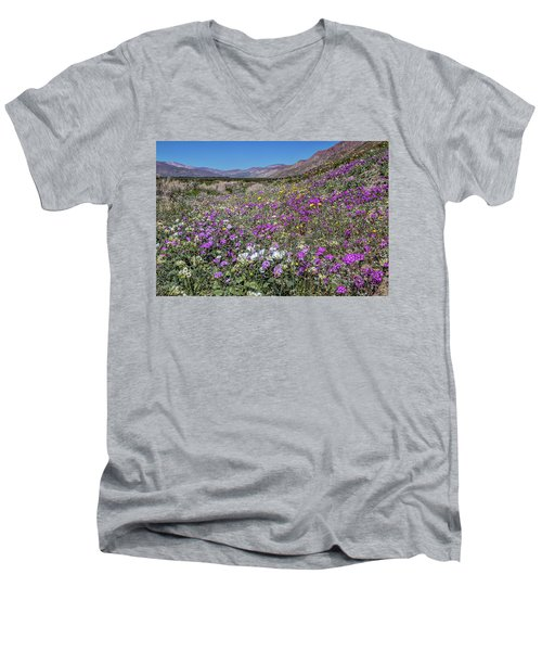 Men's V-Neck T-Shirt featuring the photograph The Colors Of Spring Super Bloom 2017 by Peter Tellone
