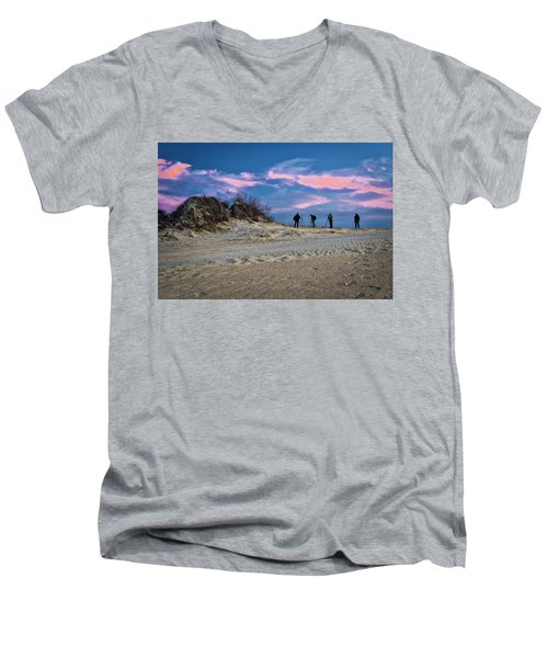 The Colors Of Sunset Men's V-Neck T-Shirt