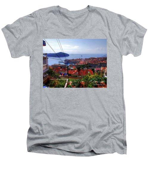 The Colourful City Of Dubrovnik Men's V-Neck T-Shirt