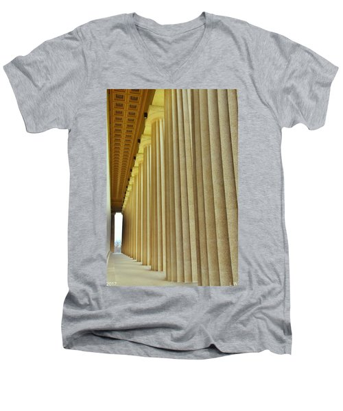The Columns At The Parthenon In Nashville Tennessee Men's V-Neck T-Shirt
