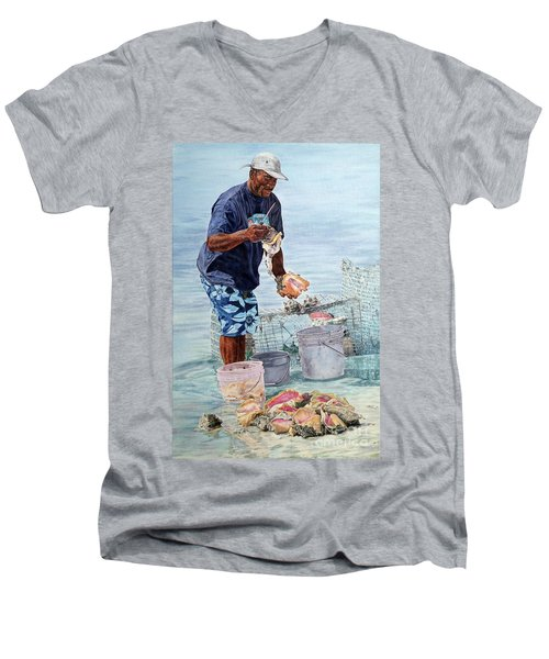 The Conch Man Men's V-Neck T-Shirt