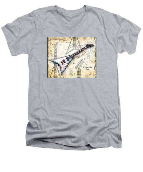 The Concorde Men's V-Neck T-Shirt by Gary Bodnar