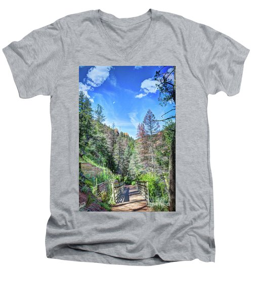 Men's V-Neck T-Shirt featuring the photograph The Connection by Deborah Klubertanz