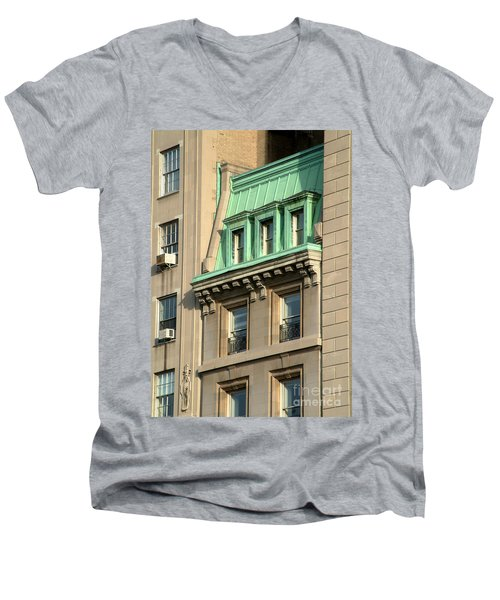 Men's V-Neck T-Shirt featuring the photograph The Copper Attic by RC DeWinter