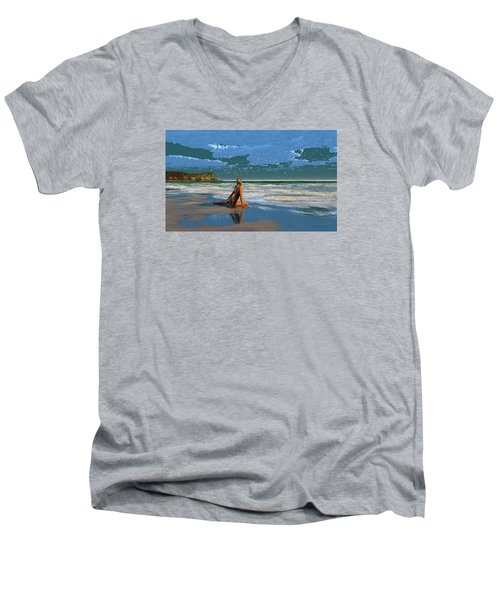 The Courtship Of Sand Men's V-Neck T-Shirt