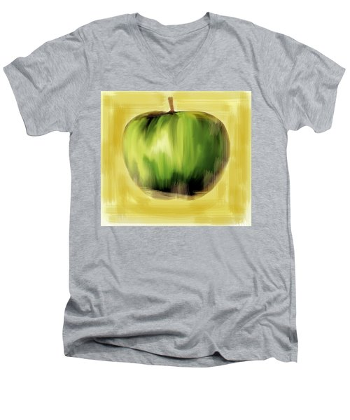 The Creative Apple  Men's V-Neck T-Shirt