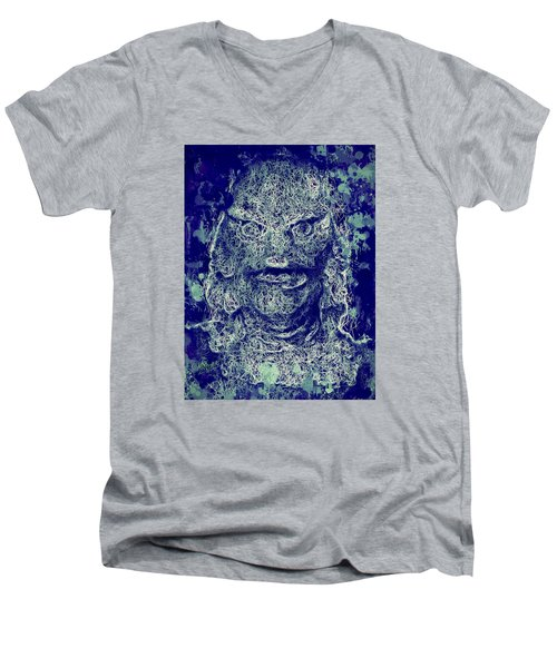 Creature From The Black Lagoon Men's V-Neck T-Shirt