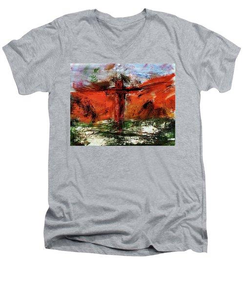 The Crucifixion #1 Men's V-Neck T-Shirt
