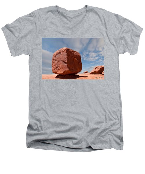 The Cube At Monument Valley Men's V-Neck T-Shirt