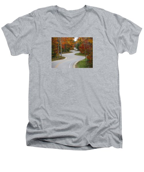 The Curvy Road Men's V-Neck T-Shirt
