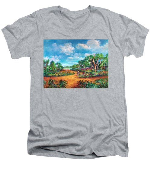 The Cycle Of Life Men's V-Neck T-Shirt by Randy Burns