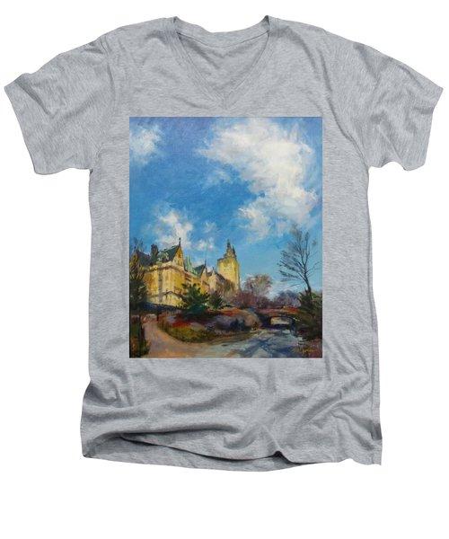 The Bridle Path, Central Park Men's V-Neck T-Shirt