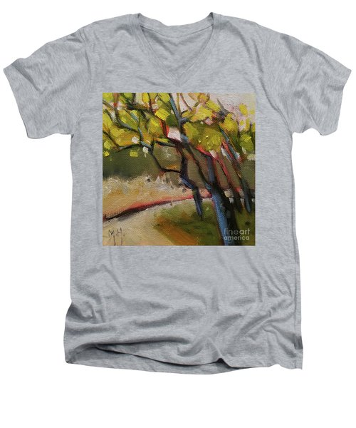 The Dance Abstract Tree Woods Forest Wild Nature Men's V-Neck T-Shirt