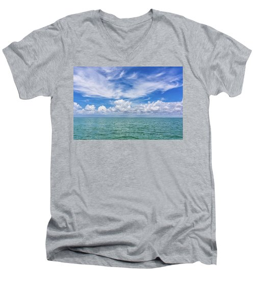 The Dance Of Clouds On The Sea Men's V-Neck T-Shirt