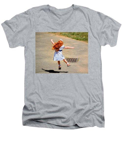 Out Of School Men's V-Neck T-Shirt