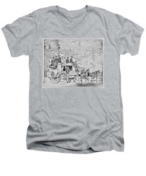 The Deadwood Coach Men's V-Neck T-Shirt