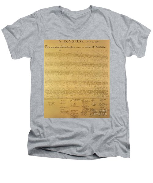 The Declaration Of Independence Men's V-Neck T-Shirt