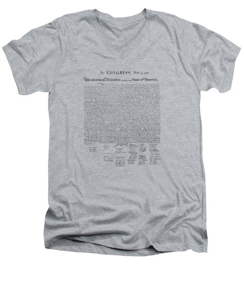 The Declaration Of Independence Men's V-Neck T-Shirt by War Is Hell Store