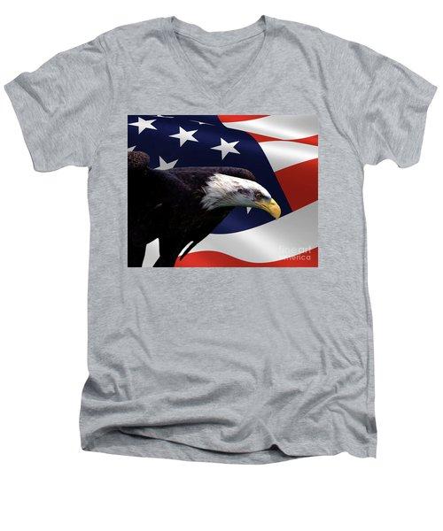 The Defender Men's V-Neck T-Shirt