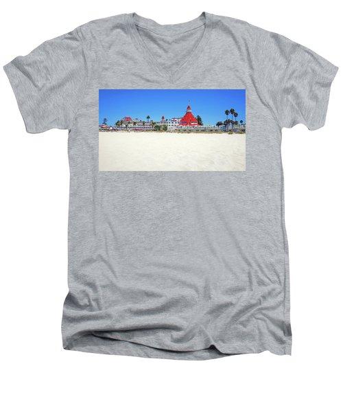 The Del Coronado Hotel San Diego California Men's V-Neck T-Shirt