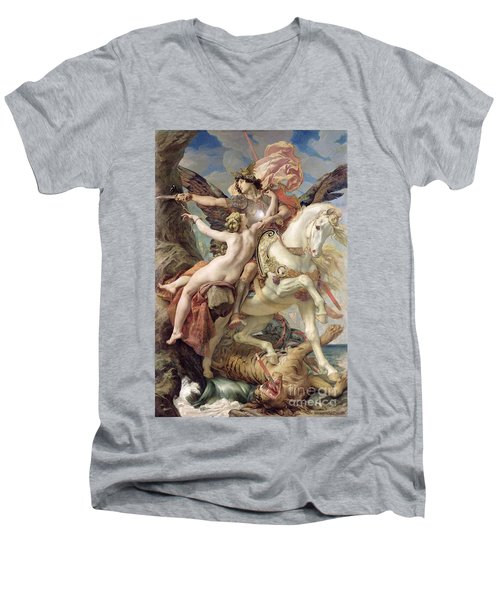 The Deliverance Men's V-Neck T-Shirt by Joseph Paul Blanc