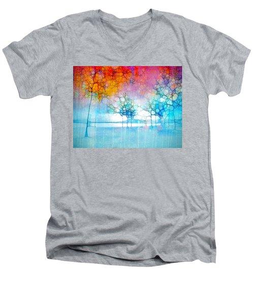 The Departing Trees Men's V-Neck T-Shirt