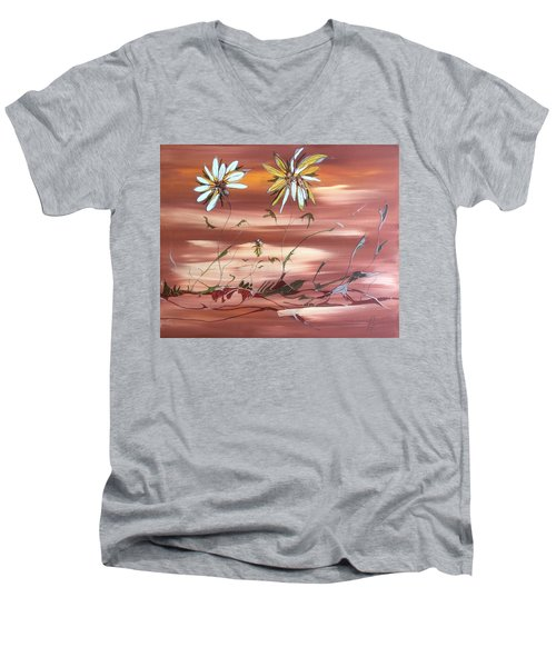 The Desert Garden Men's V-Neck T-Shirt by Pat Purdy