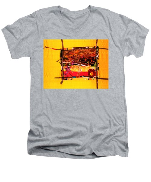 The Desert Is No Place For Chickens Men's V-Neck T-Shirt