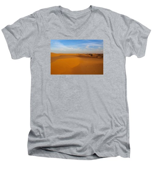 The Desert  Men's V-Neck T-Shirt by Jouko Lehto