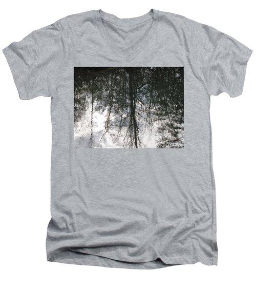 The Devic Pool 1 Men's V-Neck T-Shirt by Melissa Stoudt