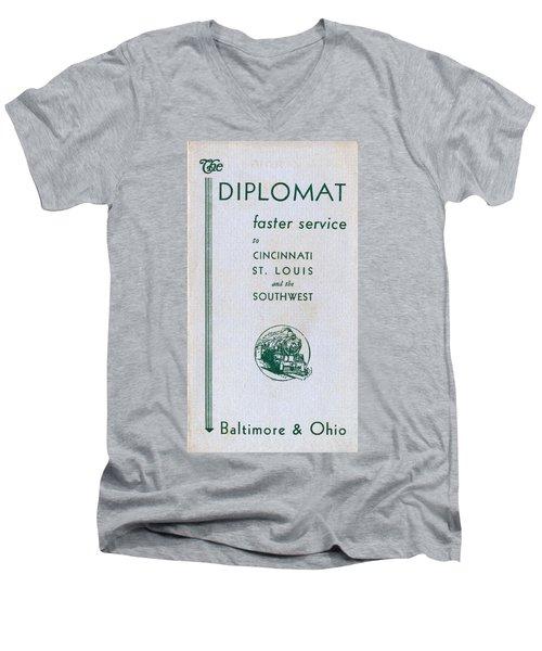 The Diplomat Men's V-Neck T-Shirt