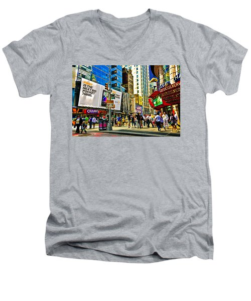 The Dirty Old City -nyc Men's V-Neck T-Shirt