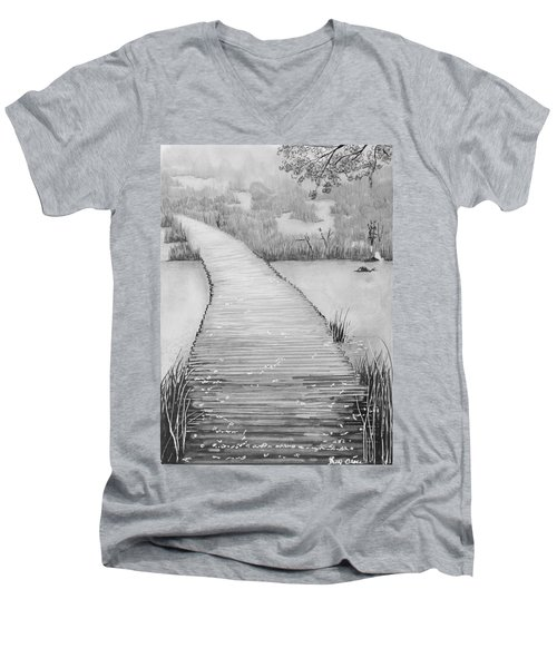 The Divine Path Men's V-Neck T-Shirt