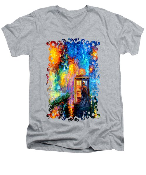 The Doctor Lost In Strange Town Men's V-Neck T-Shirt by Three Second