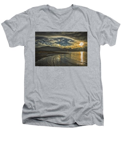 Men's V-Neck T-Shirt featuring the photograph The Dog Days Of Summer by Mitch Shindelbower