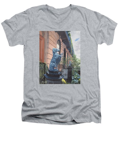 The Dogs On West Tenth Street, New York, Ny  Men's V-Neck T-Shirt
