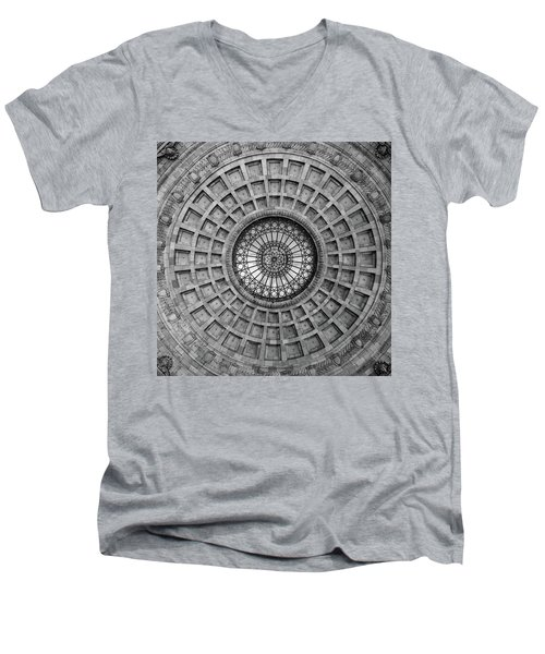 The Dome Bw  Men's V-Neck T-Shirt