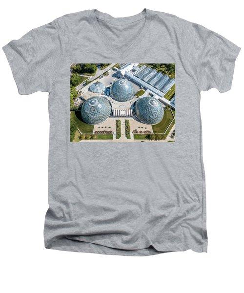 Men's V-Neck T-Shirt featuring the photograph The Domes by Randy Scherkenbach