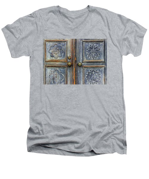 Men's V-Neck T-Shirt featuring the photograph The Door by Ranjini Kandasamy