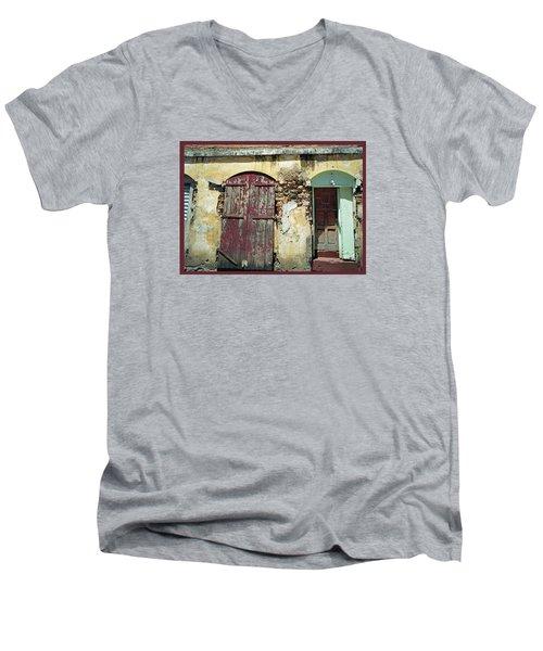 The Doors Of San Juan Men's V-Neck T-Shirt