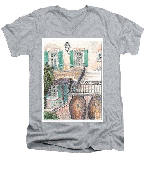 The Dora Maar Residency Men's V-Neck T-Shirt by Tilly Strauss