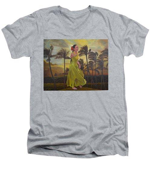 The Green Dress Men's V-Neck T-Shirt